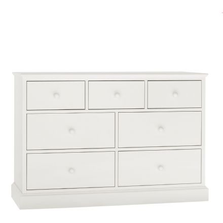 Ashby White Painted 3+4 Chest of Drawers